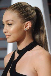 slicked back ponytail